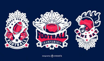 Football championship badge set