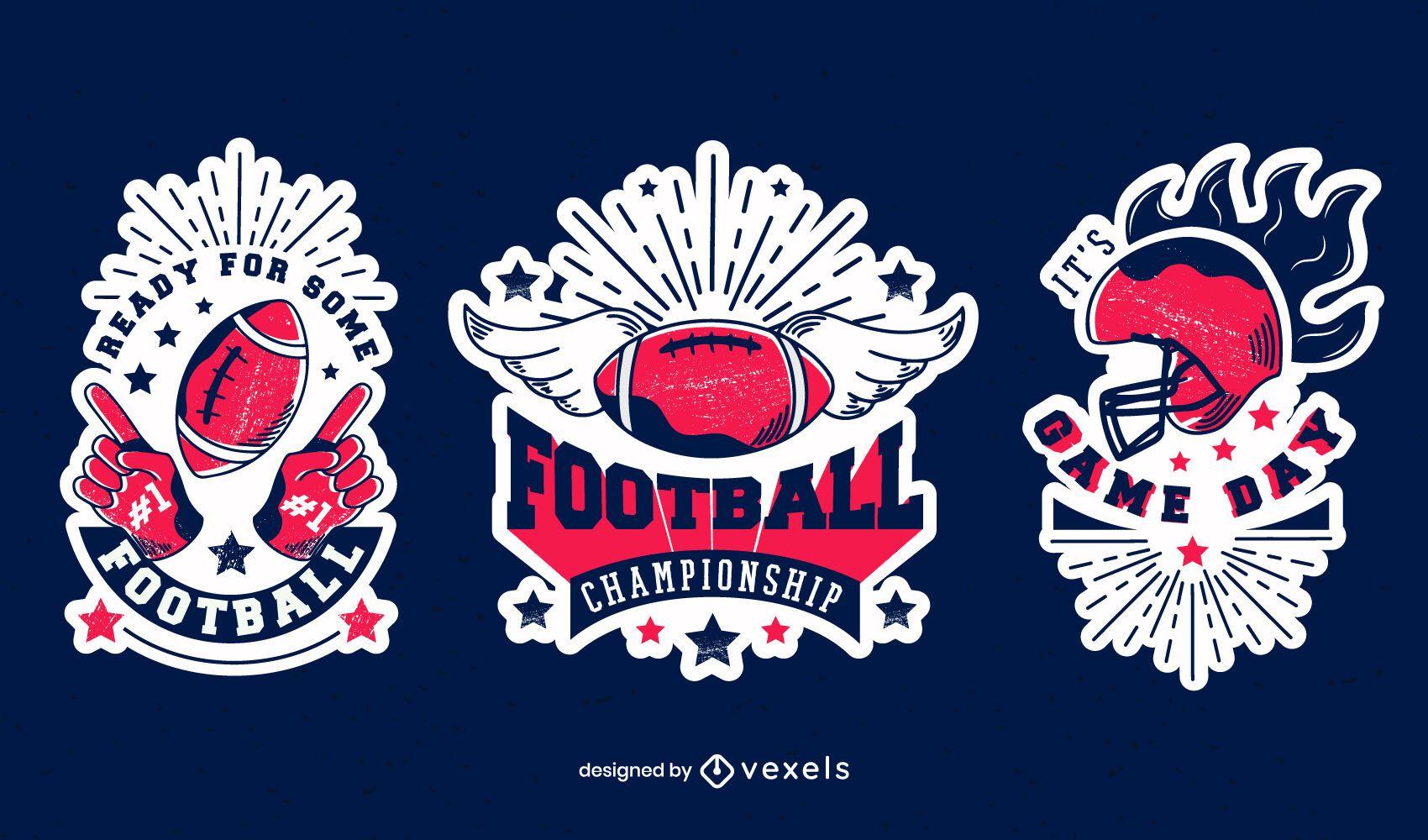 Football championship badge set
