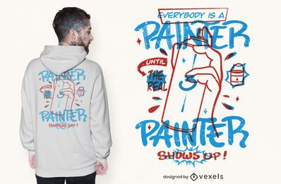 Diseño de camiseta de cita de pintor