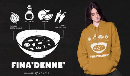 Diseño de camiseta Fina'denne '