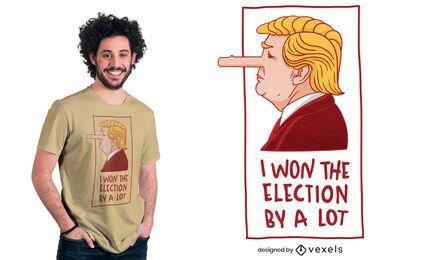Diseño de camiseta de Donald Trump pinocho