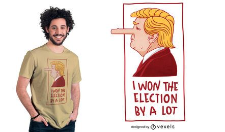 Donald Trump pinocchio t-shirt design