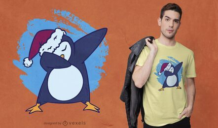 Design de camiseta com toque de pinguim