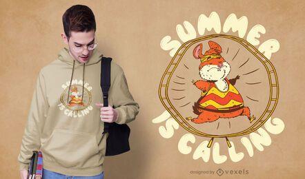 Diseño de camiseta de hámster de entrenamiento.