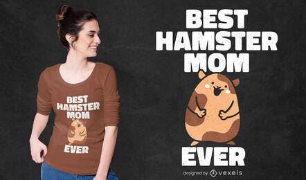 Melhor design de t-shirt para mãe de hamster