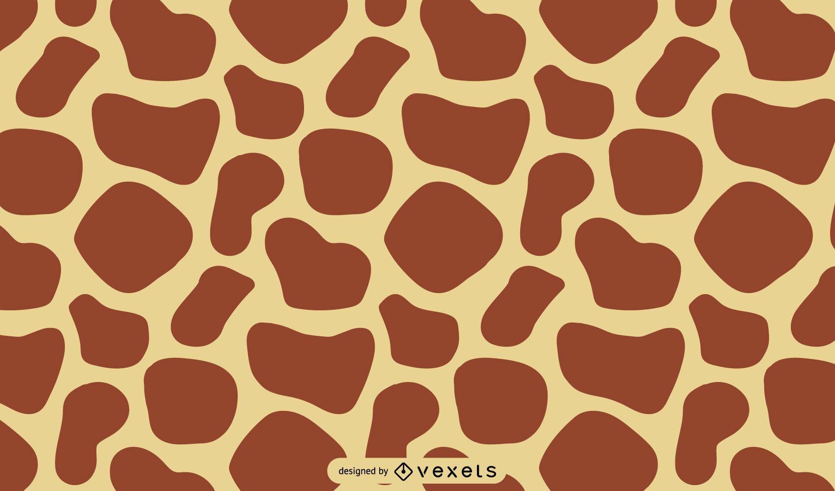 Desenho de estampa de girafa