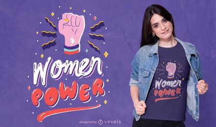 Women power t-shirt design