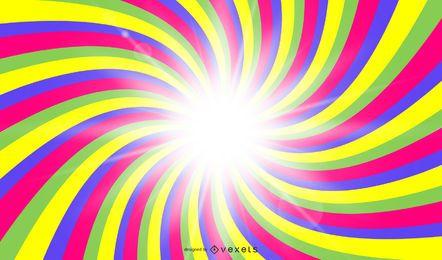 Vetor de raios solares coloridos