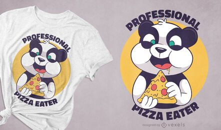 Pizza panda t-shirt design