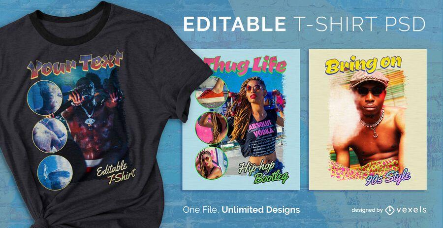 Bootleg scalable t-shirt psd