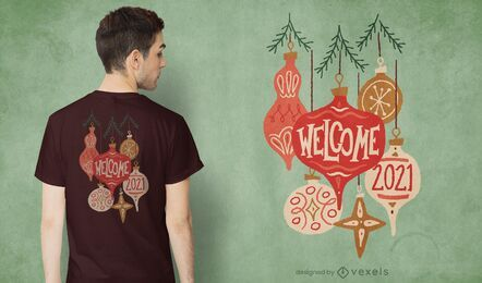 2021 diseño de camiseta de adornos.