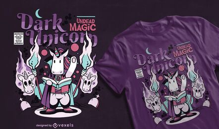 Dark unicorn comic t-shirt design