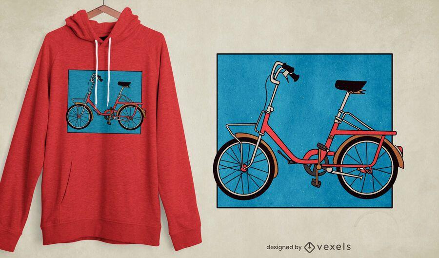 Diseño de camiseta de bicicleta plegable.