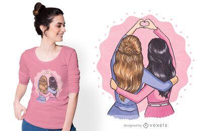 Diseño de camiseta de mejores amigos