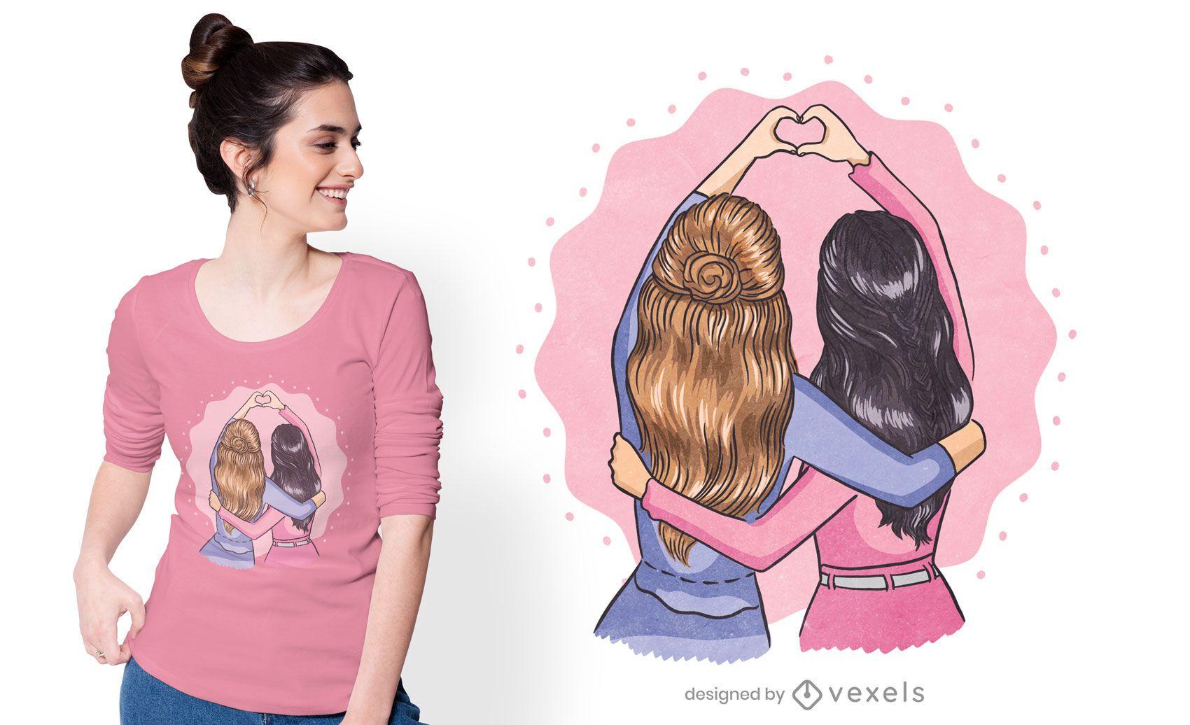 Best friends t-shirt design