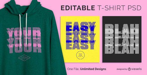 Verschwommenes Text skalierbares T-Shirt psd