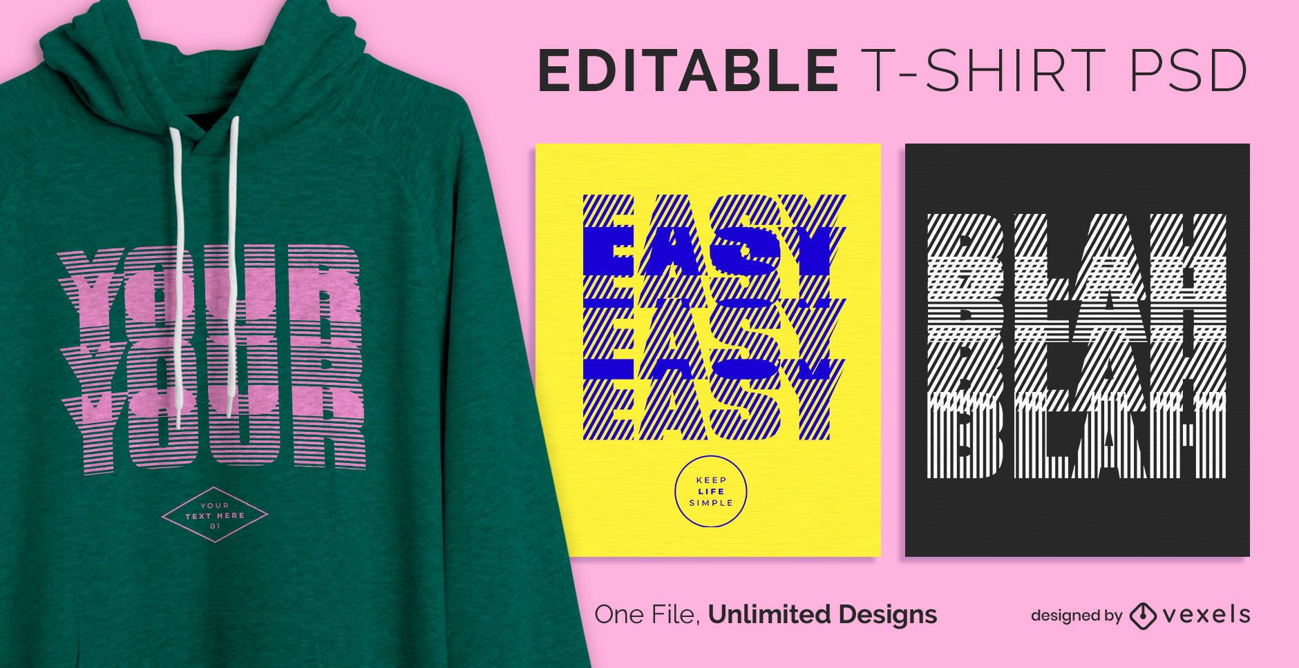 Blurry text scalable t-shirt psd