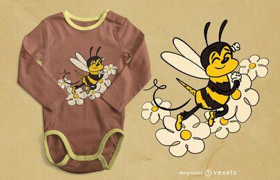 Design fofo de camiseta de abelha