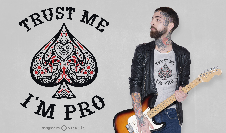Sou profissional em design de camisetas de pôquer