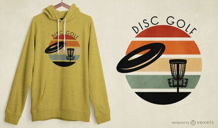 Design de t-shirt de disc golf