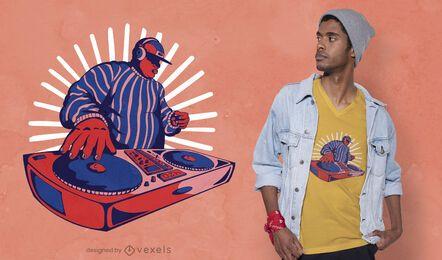 Diseño de camiseta Duotone DJ