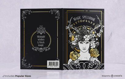 Magisches Zauberbuch-Cover-Design
