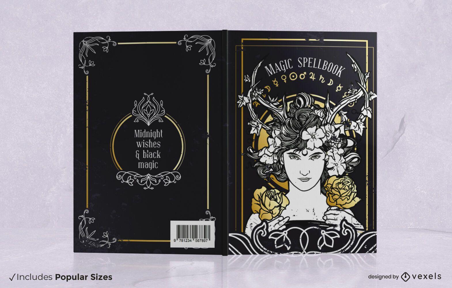 Design da capa do livro de feitiços