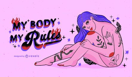 My body my rules illustration