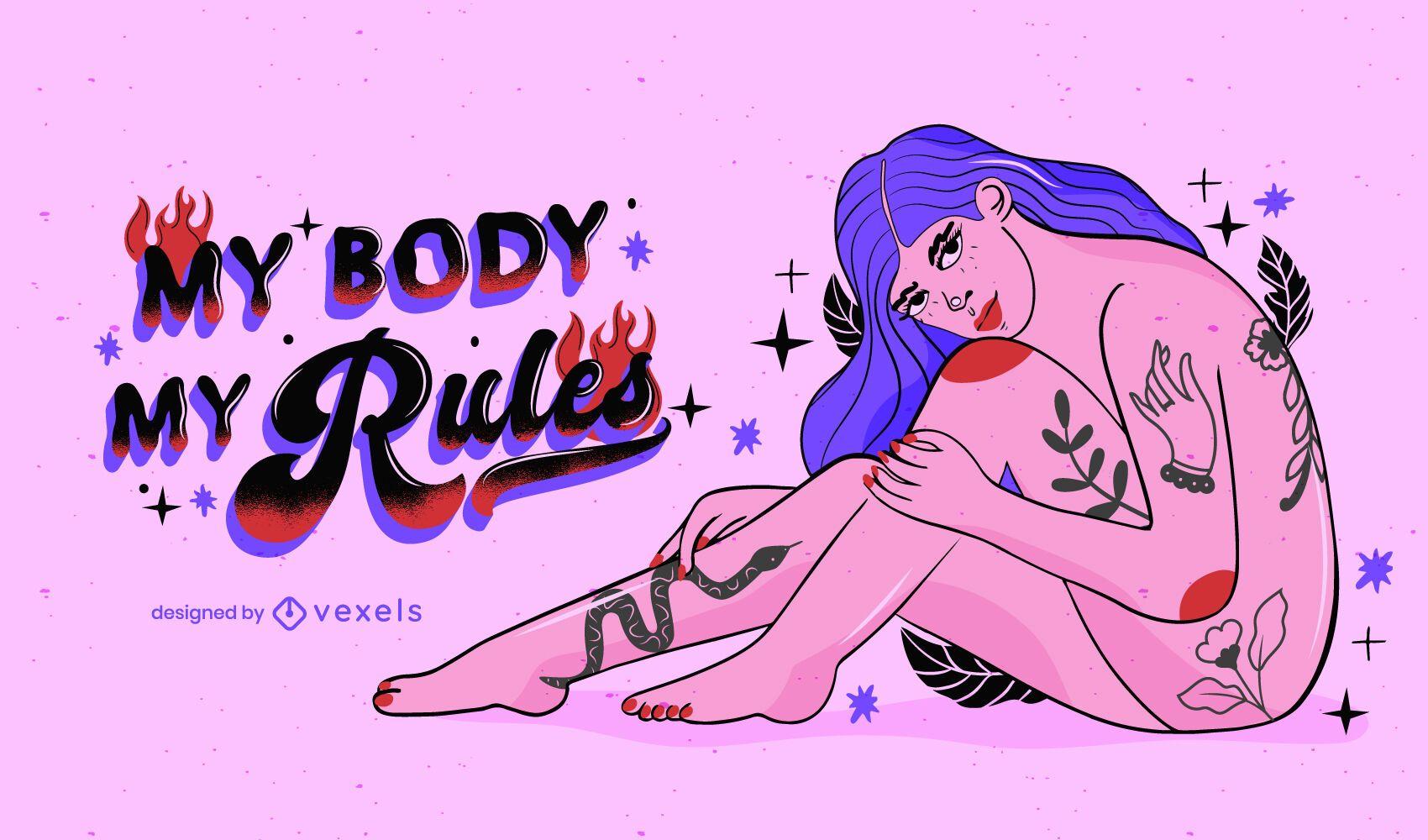 Mi cuerpo mis reglas ilustraci?n