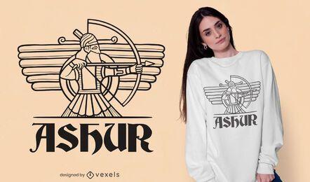 Diseño de camiseta de dios Ashur