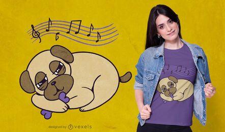 Sleepy pug t-shirt design