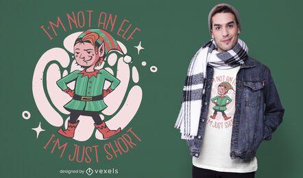 No es un diseño de camiseta de elfo
