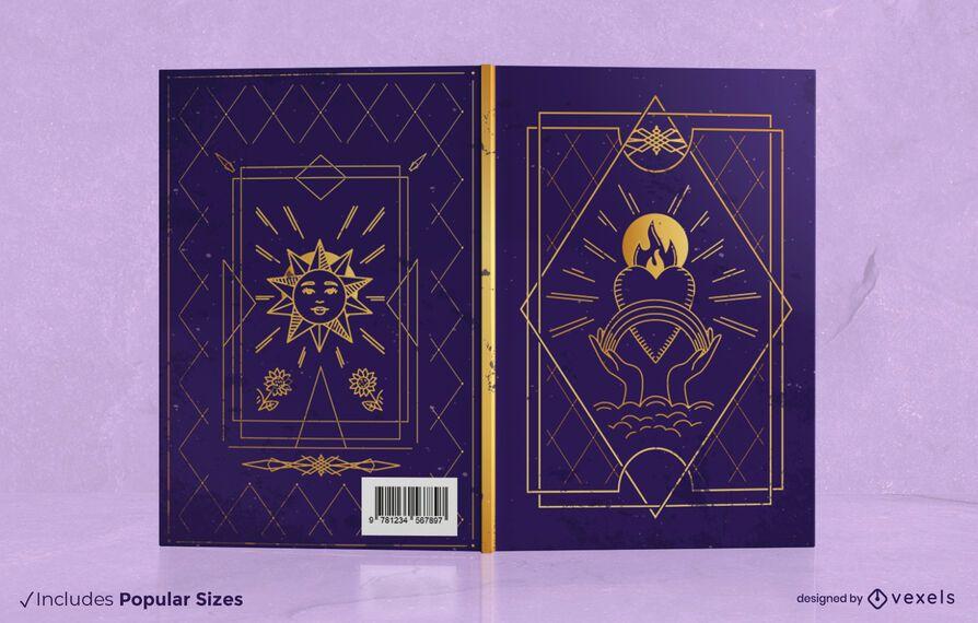Design de capa de livro de tarô mágico