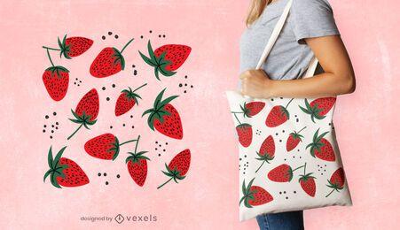 Erdbeer-Einkaufstasche Design