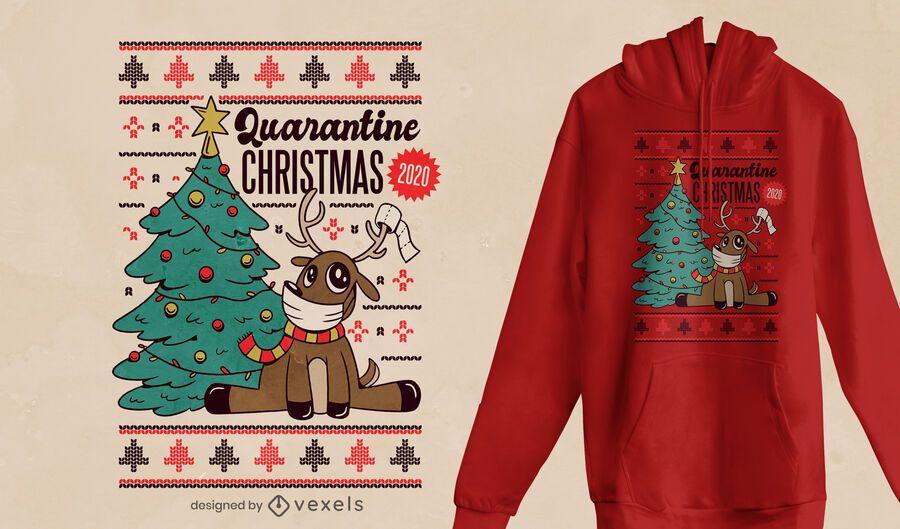 Diseño de camiseta Quarantine xmas 2020