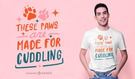 Patas hechas para abrazar el diseño de camisetas