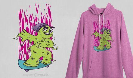 Skater booger t-shirt design