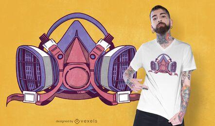 Diseño de camiseta de máscara de pintura.