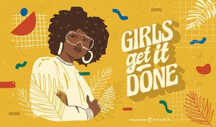 Las chicas lo hacen ilustración
