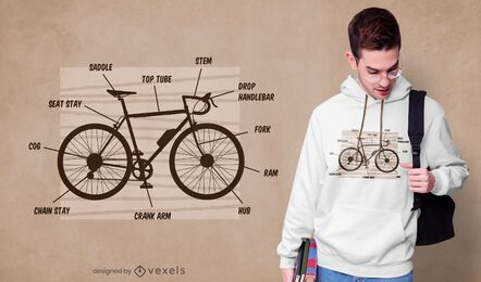 Bike anatomy t-shirt design
