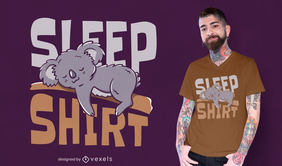 Sleep shirt t-shirt design