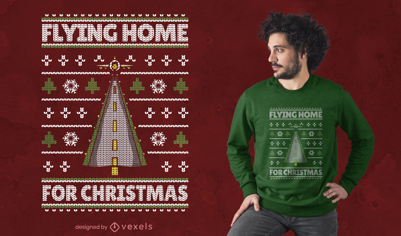Flying home t-shirt design