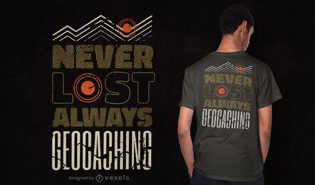 Always geocaching t-shirt design