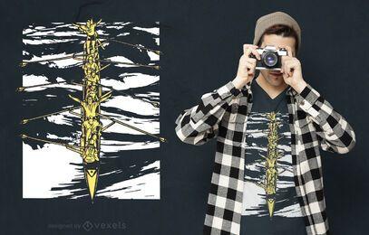 Diseño de camiseta de hombre de remo.
