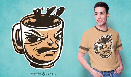 Suspicious coffee t-shirt design