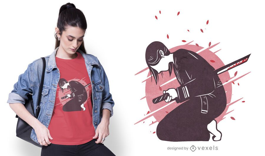 Harakiri woman t-shirt design