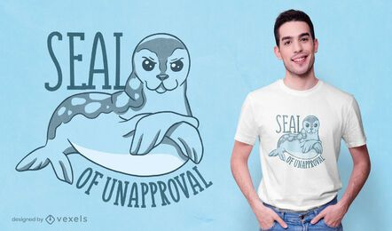 Seal of unapproval t-shirt design