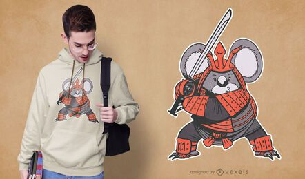Koala samurai t-shirt design