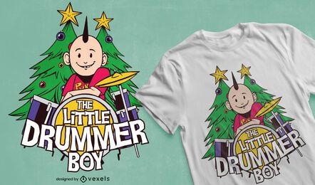 Little drummer boy t-shirt design