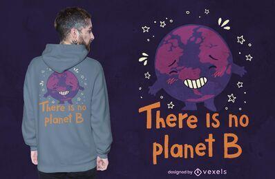 Sem design de camiseta planet b